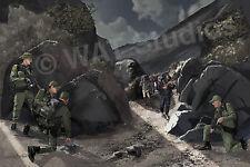 "Border Patrol art - colored print - ""Mules On The Trail"" 18"" x 12"""