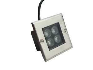 4w LED Inground Light Outdoor Path Landscape Underground Lamp Pure White