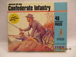 mpc American Civil War Confederate Infantry 48 piece HO/OO COMPLETE ORIGINAL SET