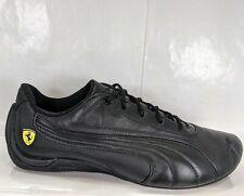 PUMA Drift Cat 302028 Ferrari All Black Leather Driving Shoes Men US 9.5