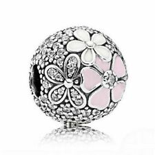 Stopper Poetic Blooms Clip Beads Original Pandora Charm Bracelet Fashion Jewelry