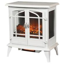 Infrared Electric Stove 1,000 sq. ft Space Large Room Heater Fireplace in White