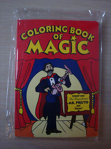 """COLORING BOOK OF MAGIC BY MAGIC MAKERS 1.25"""" X 1.75"""" TINY SIZE TRICK KIDS TOY"""