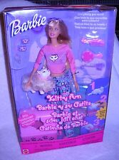 #4743 NRFB Mattel Kitty Fun Barbie Foreign Box Barbie Y Su Gatita
