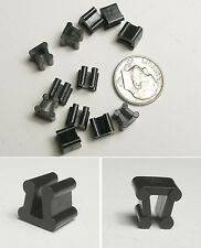 12pc TYCO HO Slot Car Track Side By Side + Bill Board CLIPS Fit Many Style Scale