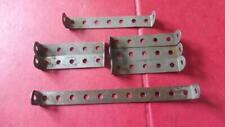 MECCANO 7 Nickel 2.5/3.5/5.5 inch Double Angle Strips  No 48a/48b/48d