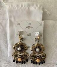 CAbi Cha Cha Earrings, Style# #2154 Antique gold finish Was $49 New In Bag