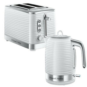 Kettle & Toaster Two Slice Set White Russell Hobbs 24360 On Sale Gift Buy Cheap