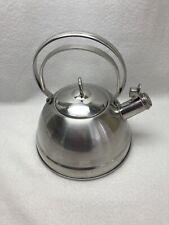 BETTY CROCKER Vintage Retro 18/10 Stainless Steel Whistling Tea Kettle Teapot