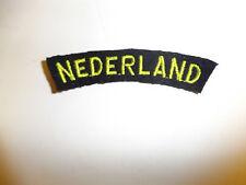 b9532 WW2 Dutch Netherlands Nederland Holland Army yellow black tab C9A2