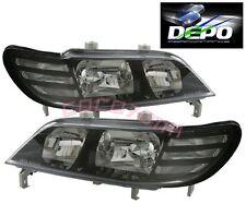 97-99 Acura CL JDM Style Black Headlights DEPO 98 PAIR