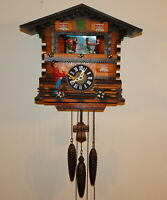 RARE SCHMECKENBECHER BLACK FOREST CUCKOO CLOCK TRUMPETER DANCERS MUSICAL GERMANY