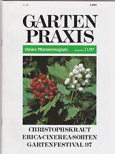 Garten Praxis - Ulmers Pflanzenmagazin november 1997 - Erica cineraria Sorten -