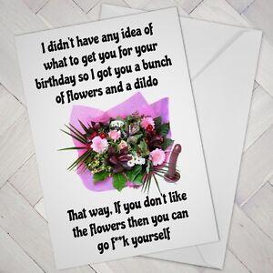 🚨NAUGHTY Funny Birthday CARD Cheeky Joke Humour Friend Mate Girl female RUDE