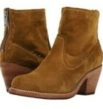 FRYE Women's Leslie Artisan Short Suede Leather Boots Wheat Brown Size 7 NEW