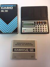 CASIO ML-88 Vintage Alarm Clock Musical Keys Calculator With Case & Box