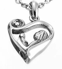 Mother Child Cremation Urn Jewelry Necklace Pendant Filler Kit Ashes Stainless