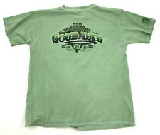 VINTAGE Crazy Shirts ATM DAD Shirt Size Large Green MONEY DYED Tee Adult Baggy