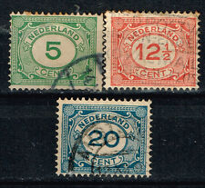 Netherlands classic stamps set 1921 #107-9
