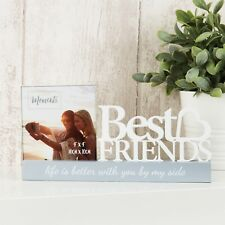 "Best Friends Photo Frame  4 x 4 "" Plinth  frame"