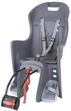 Polisport Boodie Fahrrad Kindersitz grau grau mit Rahmenhalterung Neu