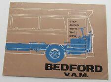 Dealer Brochure The Vauxhall Motor's Bedford V.A.M. Bedford V.A.M. Bus 1965