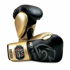 Rival Boxing Gloves RS100 Professional Sparring Training Workout Black Gold