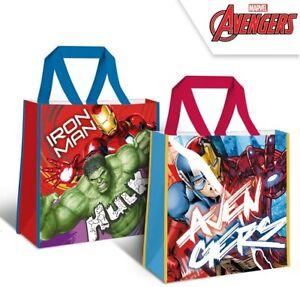 Marvel Avengers Hulk Ironman Capt America Large Reusable Shopping Tote Gift Bag