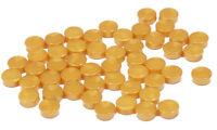 LEGO - 50 x Rundfliese 1x1 pearl gold / Rundkachel  Fliese rund / 98138 NEUWARE