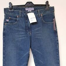 Designer STUSSY Blue Antique Denim Hipster Jean Stretch 30W 32L Dirty Dye Wash