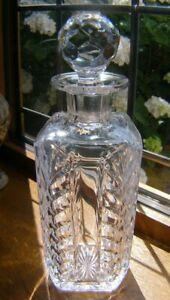 ROYAL DOULTON HEAVY CUT GLASS CRYSTAL WHISKY/GIN DECANTER 26.5CM TALL VERY GOOD