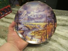 Frosty Morning God Bless America Plate Rudi Reichart Grand Tenton National Park