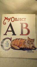 Vintage 1930's Linentex First Reader Booklet Alphabet Reader
