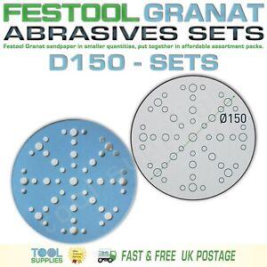 Festool GRANAT 150 mm Sandpaper Assortment Packs, RO ETS EC LEX 3 ROTEX D150 SET
