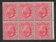 MB5a 1d De La Rue Watermark Inverted Perf P UNMOUNTED MNT/MNH