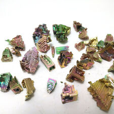 50g Bismuth rainbow bright crystal geode each weight 1-8g element Bi Mineral
