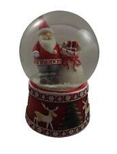 Gisela Graham Musical Santa Snow Dome - Christmas Snow globe -Festive Decoration
