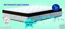 Queen / King Gel Infused & Latex Comfort Mattress - 100% Australian Made & Owned