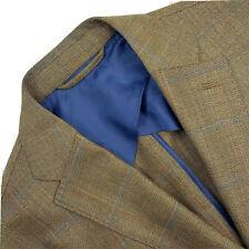 40 R Luciano Barbera Soft Zero Weight Windowpane Patch Pocket Slim Fit Blazer