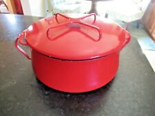 Dansk France Ihq Kobenstyle Rust Red Enamel Casserole Dutch Oven Pot 5 Quart