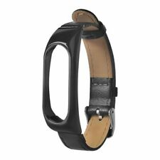 Replacement Leather strap Wrist Band Plus For Xiaomi Mi Band 2 Metal Case bla 6I