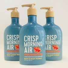 Bath & Body Works Crisp Morning Air Nourishing Hand Soap With Shea 8 oz (3 Pack)