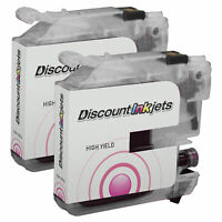 2 MAGENTA LC103M Ink Cartridge for Brother LC103XL LC103 XL High Yield MFC-J6520