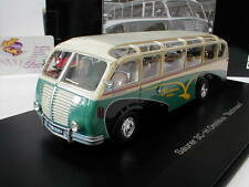 """Schuco Pro. R 09006-Acide 3c-h omnibus """"Bachmann"""" année modèle 1951 blanc-vert 1:43"""
