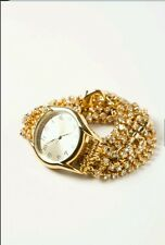 Anthropologie Watch Gold Tone Sparkling Crystal Wrap by Sara Designs  $298