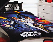 Kids Boys Licensed STAR WARS  SINGLE Duvet/Doona/Quilt Cover SET BNIP