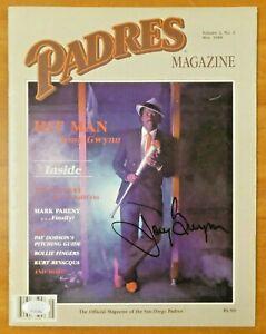 Tony Gwynn Signed Padres Full Magazine with JSA COA