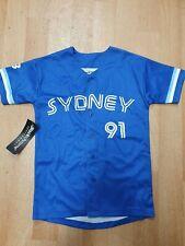 New listing 2019/20 Youth Size 4 Sydney Blue Sox #91 Retro Jersey
