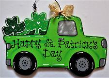 St. Patrick's Day VINTAGE TRUCK WALL ART Sign Door Hanger Hanging Plaque Decor
