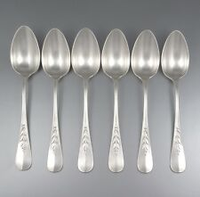 """Antique French Silver Plate Christofle Spoons, """"Canaux Laurier"""", 6 pcs"""